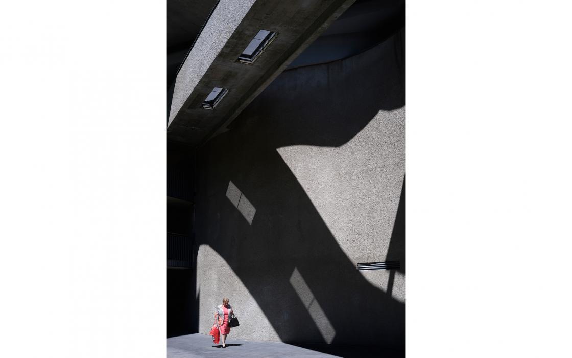 Frau mit Fassade, Wien