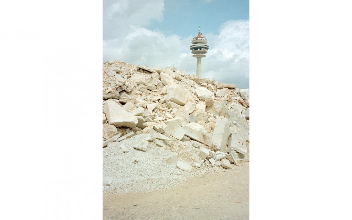 Funkturm mit Bauschutt, Wien