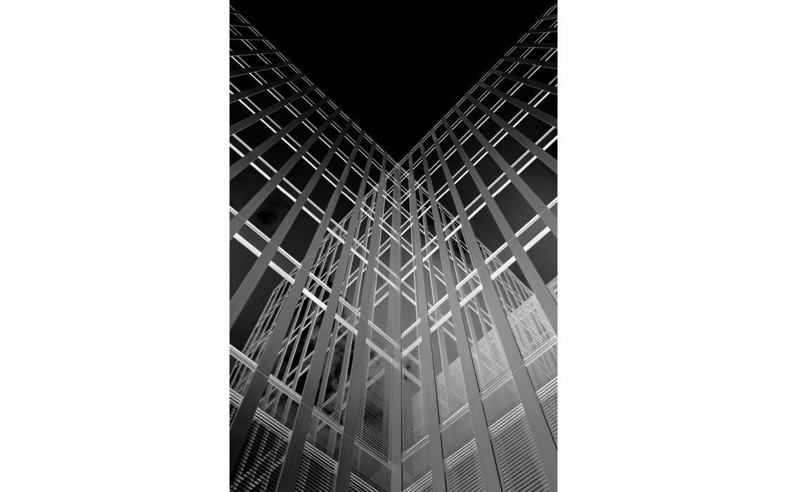 Spiegelnde Fassade, Hamburg